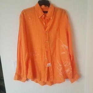 Ralph Lauren Men's Linen Button Down Shirt